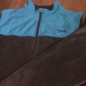 File jacket large blue with grey zip up